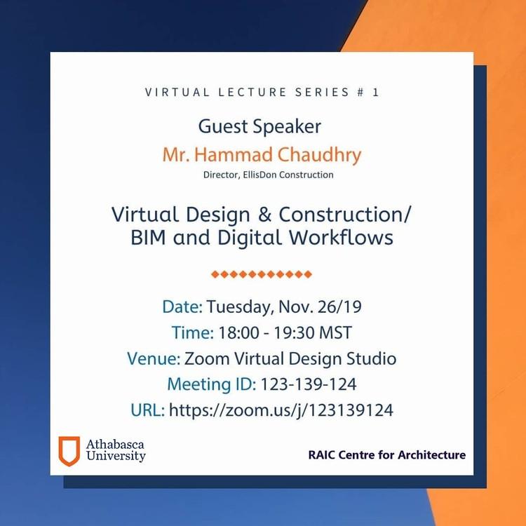 Athabasca University RAIC Centre for Architecture | Virtual Lecture Series, Athabasca University | RAIC Centre for Architecture