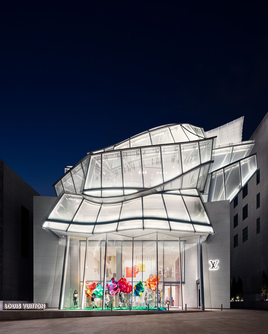 Frank Gehry and Peter Marino Design the Louis Vuitton Maison Seoul, © YONG JOON CHOI