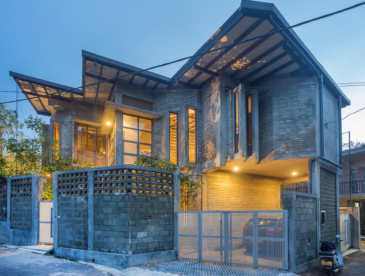 Cement Brick House Chinthaka Wickramage Associates Archdaily,Simple Cool Wood Burning Designs