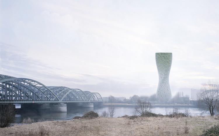 Propuesta de torres para purificar el aire en India, © Studio Symbiosis Architects