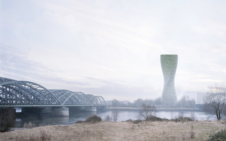 Arranha-céu em Deli propõe purificar a atmosfera da capital Indiana, © Studio Symbiosis Architects