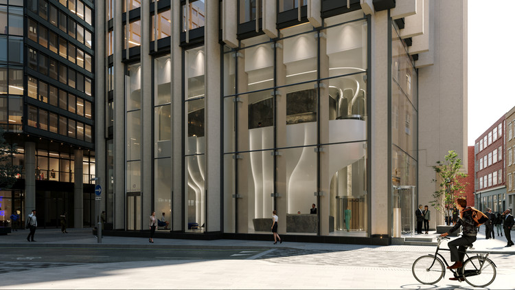 Zaha Hadid Architects Released Images for the Newly Designed Southbank Tower Lobby, Courtesy of Zaha Hadid Architects