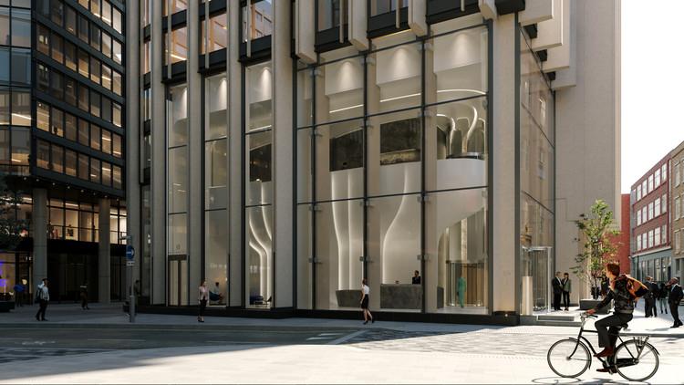 Primeiro projeto de reforma de Zaha Hadid Architects transforma o saguão de uma torre em Londres , Cortesia de Zaha Hadid Architects