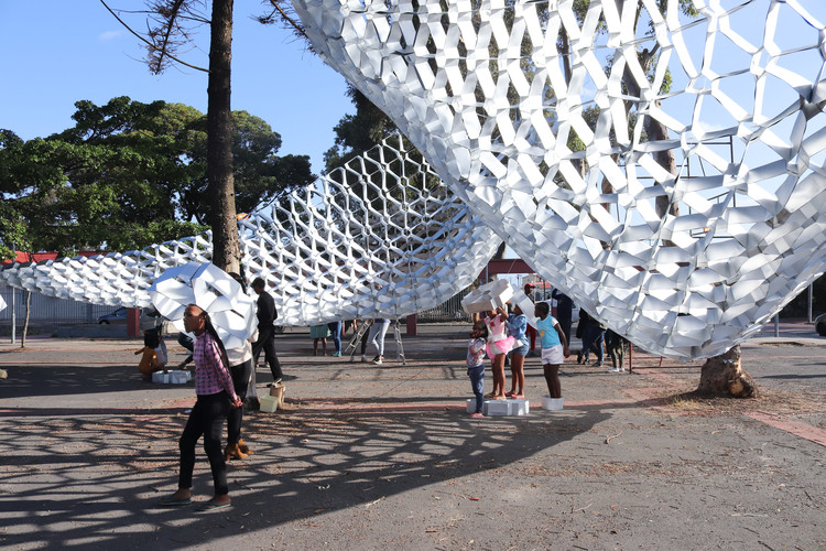 South Africa's Waste to Wonder Pavilion Transforms Public Space with Upcycled Trash, © Ella Petousis
