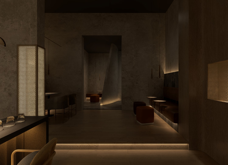 The Tasting Room / GE Space Design, back club view. Image © ICYWORKS