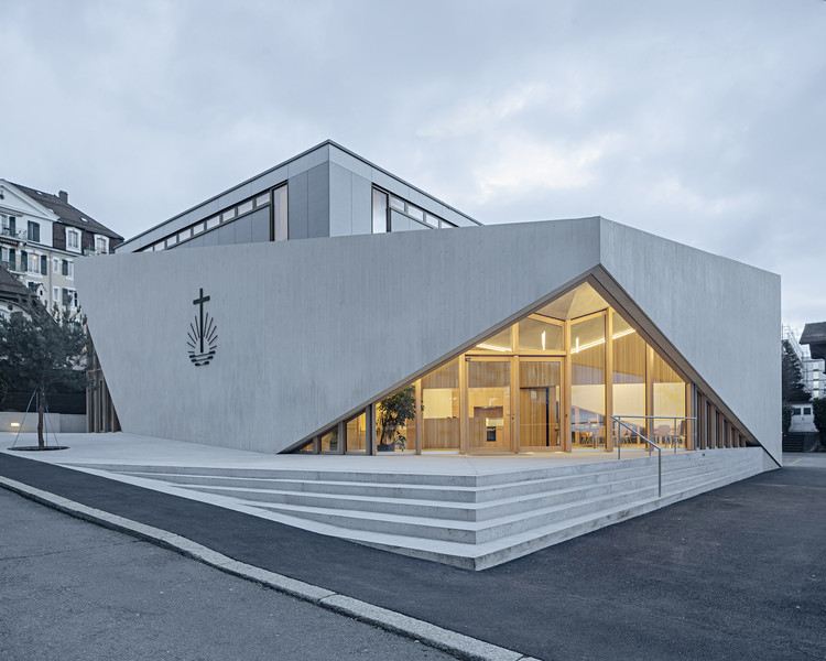 New Apostolic Church / LOCALARCHITECTURE, © Matthieu Gafsou