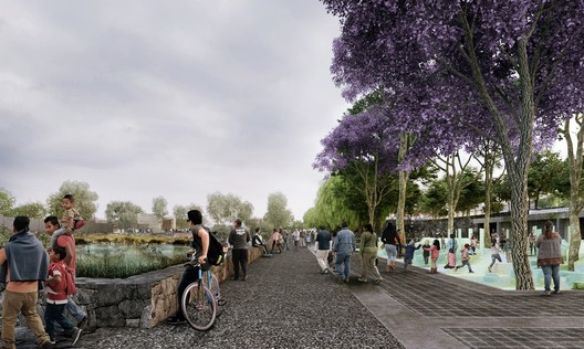 """Hydropuncture"", Global LafargeHolcim Awards Gold winning project 2018 in Mexico City. Image Courtesy of LafargeHolcim Foundation"