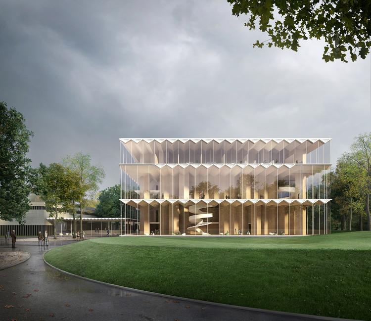Arquitetos projetam o primeiro teatro do mundo em estrutura de madeira laminada cruzada, Cortesia de Filippo Bolognese