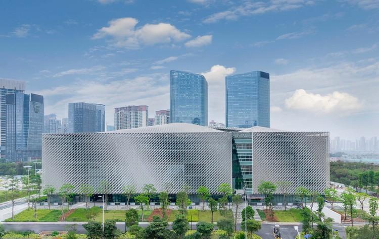 Bao'an Cultural Complex / Rocco Design Architects Associates, youth center facade. Image Courtesy of Rocco Design Architects Associates