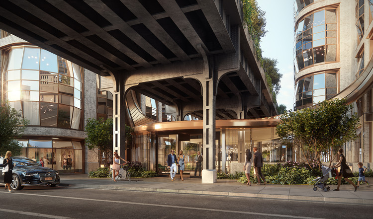 Heatherwick Studio Releases Renders of the Lobby Pavilion at Lantern House, Courtesy of Heatherwick Studio