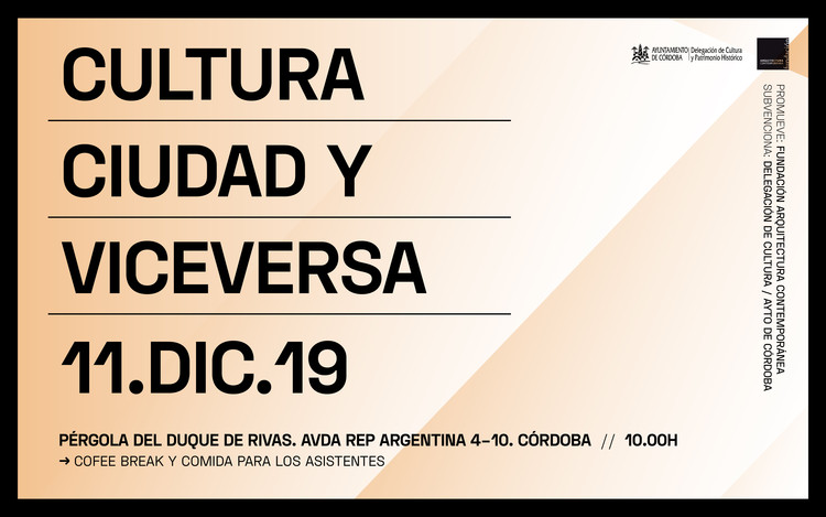 Jornada 'Cultura y Ciudad y viceversa', Fundación Arquitectura Contemporánea