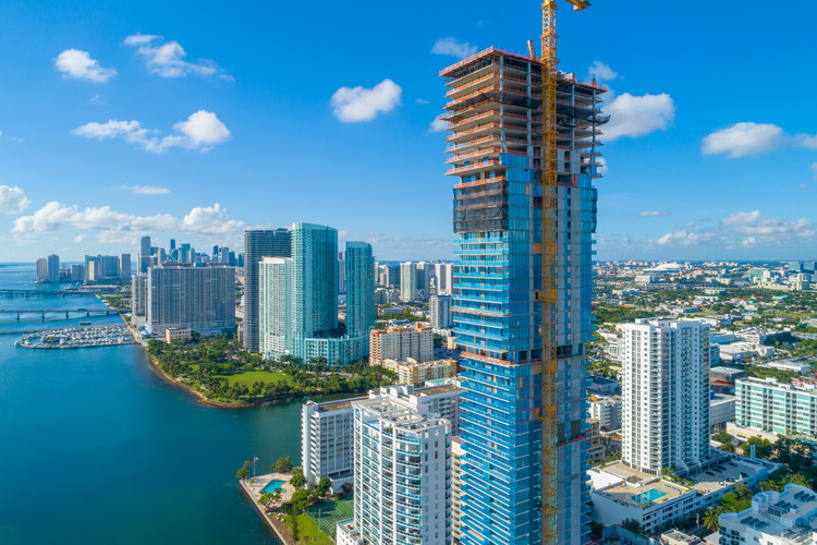 The Tallest Residential Building in Miami's Edgewater Neighborhood Tops off at 57 Stories, Courtesy of Two Roads Development