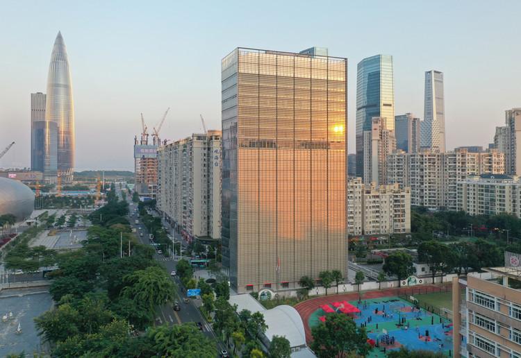 Huitong Hybrid Tower / JKP Architects, Exterior. Image © Wenrui Ye