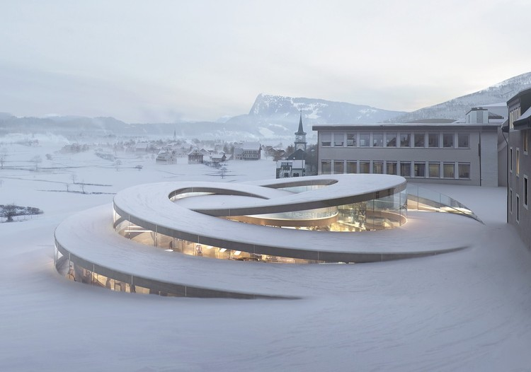 Bjarke Ingels on New Spiral Museum for Swiss Watchmaker, Courtesy of Bjarke Ingels Group