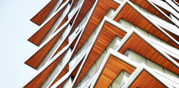 Metal Profiles Coated with Wood Veneers: 7 Options for Applying them to Architecture, AluSiding. Image Cortesia de Technowood