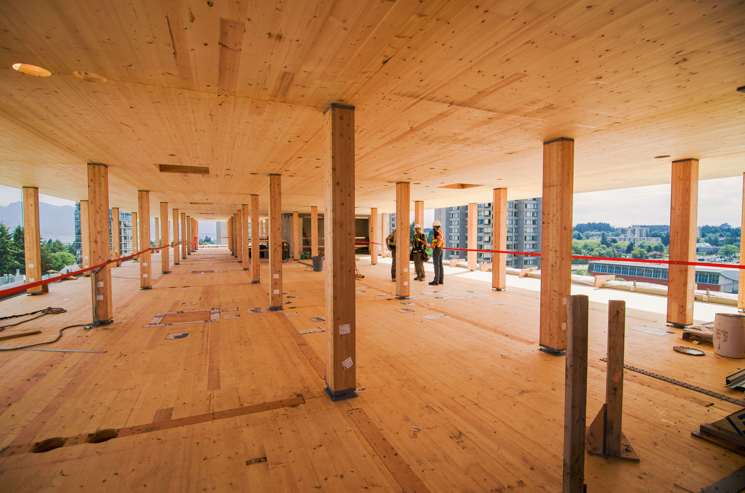 Тенденции развития лесоматериалов: 7 к 2020 году, дом TallWood в Brock Commons / Acton Ostry Architects и Hermann Kaufmann Architekten.  Image © Pollux Chung / предоставлено Seagate Structures