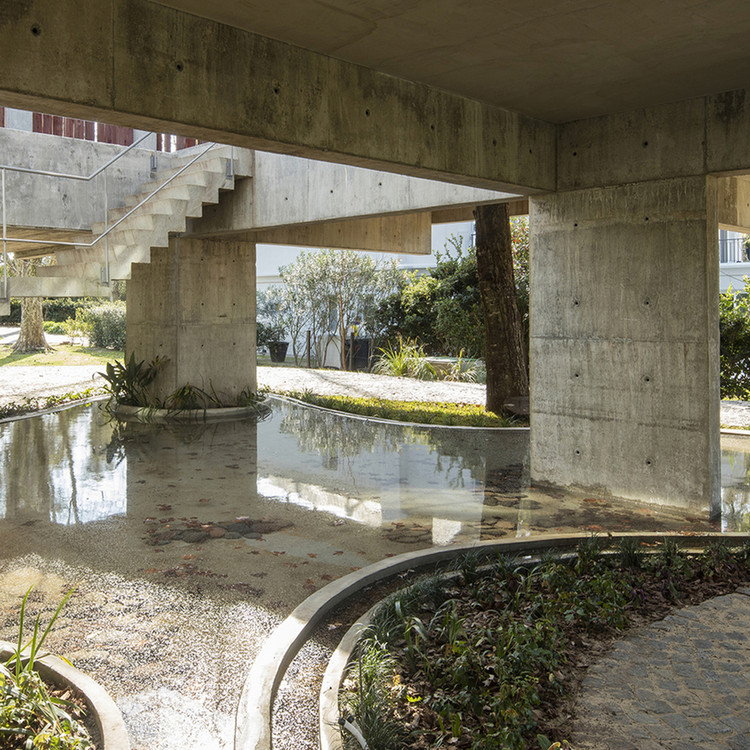 Espejos de agua en casas argentinas: ejemplos en planta y sección, Casa del árbol / Estudio Botteri-Connell. Image © Gustavo Sosa Pinilla