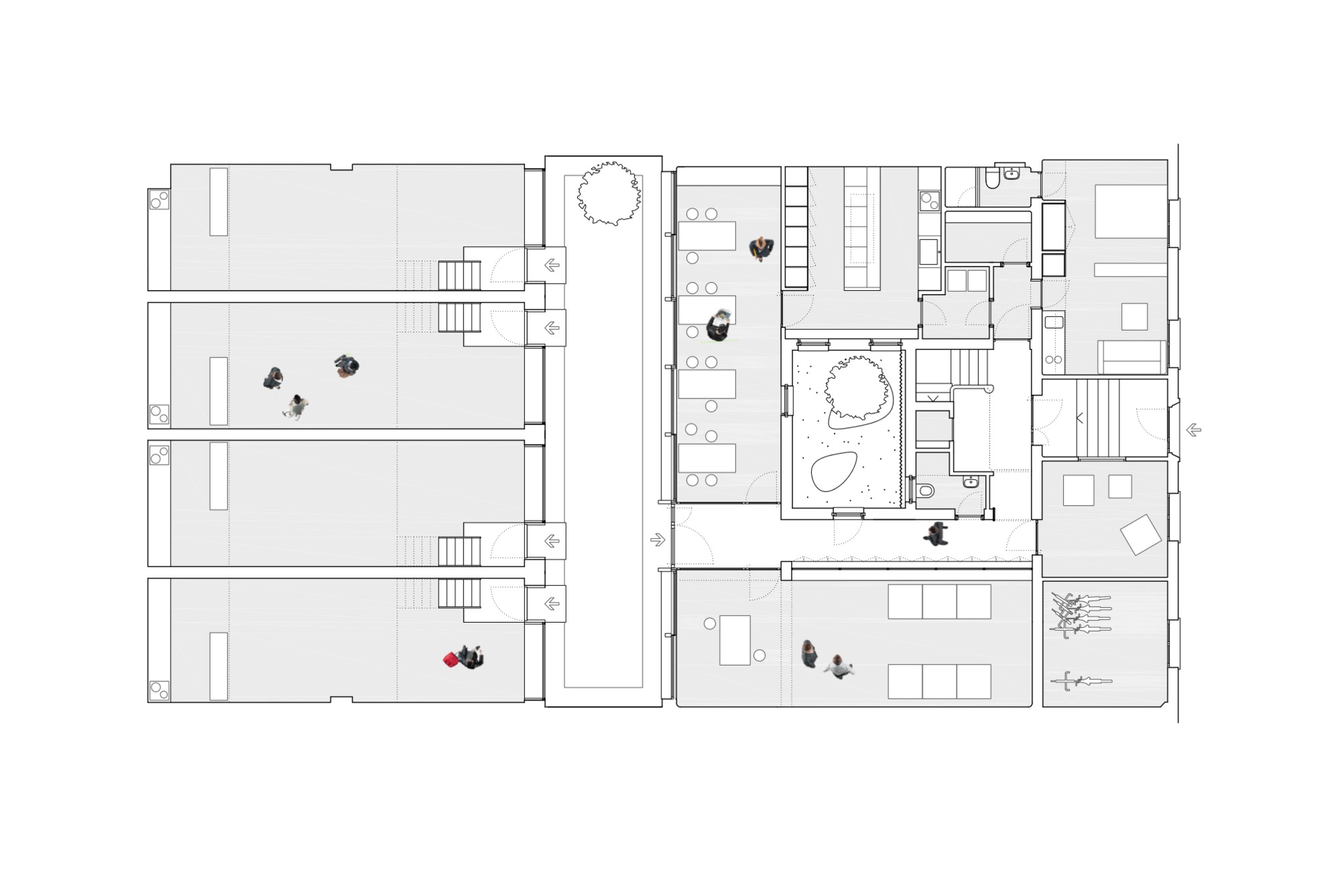 Gallery Of Tetuan Coliving Ch Qs Arquitectos 31