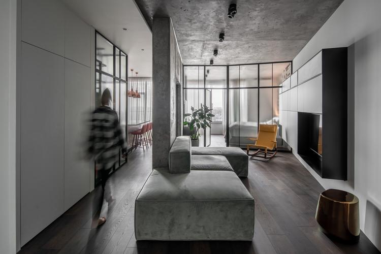 Apartamento Concrete66 / Pinchuk Virovtseva Architects, © Andrey Bezuglov