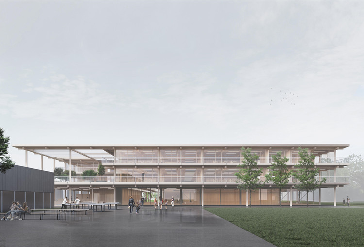 Topotek 1 Wins Competition to Design an Extension for a School in Switzerland, Courtesy of TOPOTEK