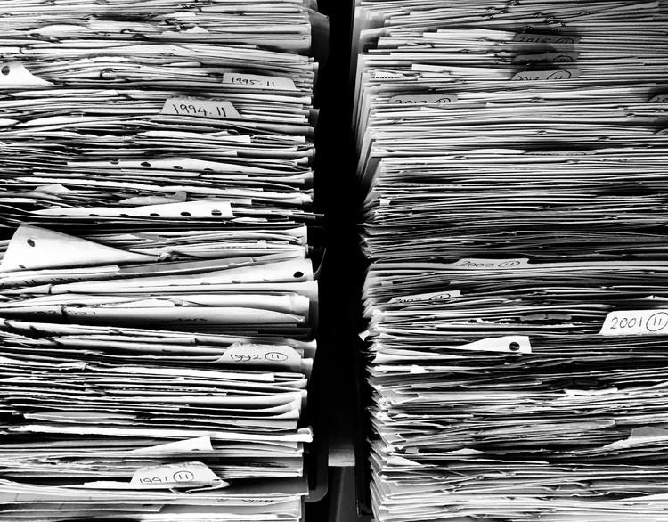 The New Technologies of Archivization / Albena Yaneva for the Shenzhen Biennale (UABB) 2019, Archive of paperwork © Myrfa