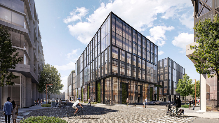 Hacker Designs Largest Mass Timber Office in United States, Pier 70. Image Courtesy of Brookfield Properties and Design Distill