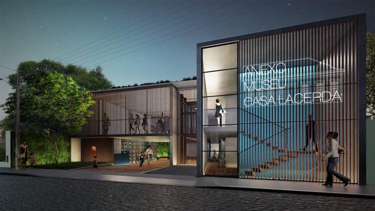 Figueroa Arq+Urb vence concurso para anexo do Museu Casa Lacerda em Curitiba, Projeto vencedor cria um passeio intuitivo entre os diferentes espaços do complexo. Imagem: reprodução/Figueroa