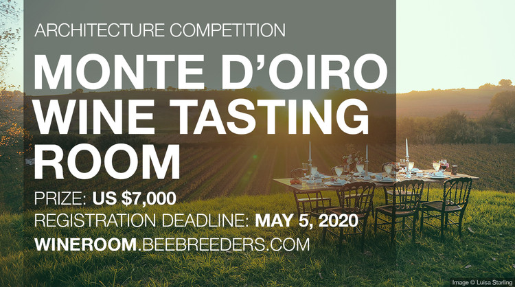 Monte d'Oiro Wine Tasting Room, Enter the Monte d'Oiro Wine Tasting Room  Architecture Competition now! US $7,000 in prize money! Closing date for registration: MAY 5, 2020