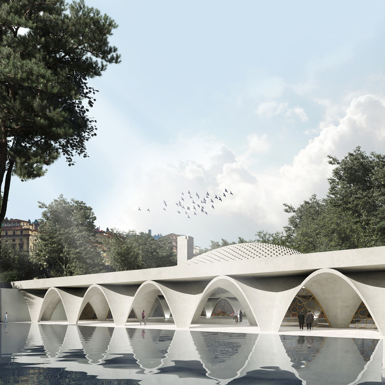 WAFAI Architecture and Fragomeli+Partners Design an Islamic Cultural Center in Piedmont, Italy, Courtesy of Wafai Architecture and Fragomeli+partners