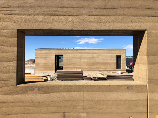 Concrete is the most carbon-intensive material found in the built environment, and rammed earth is a viable alternative—at least for projects of a certain scale. The San Antonio–based architecture firm Lake|Flato has opted for rammed earth on two of its residential projects, such as this one in West Texas.Courtesy Kyle Melgaard/Pilgrim Building Company