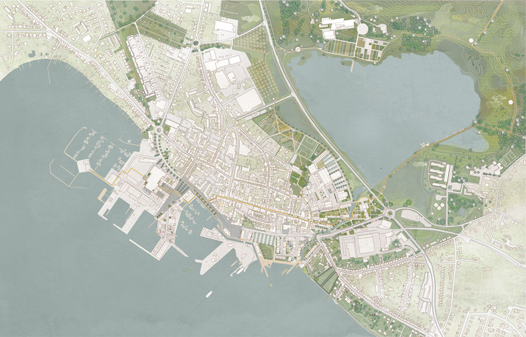 Kjellander Sjöberg Wins Competition to Climate Proof the Coastal Town of Faaborg in Denmark, Courtesy of Kjellander Sjöberg