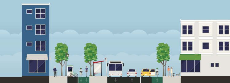 Urban Design Tool Streetmix Assists Users in Designing Hypothetical Streets, Courtesy of Streetmix