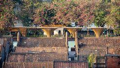 Changqi Stadium Bamboo Corridor / Atelier cnS