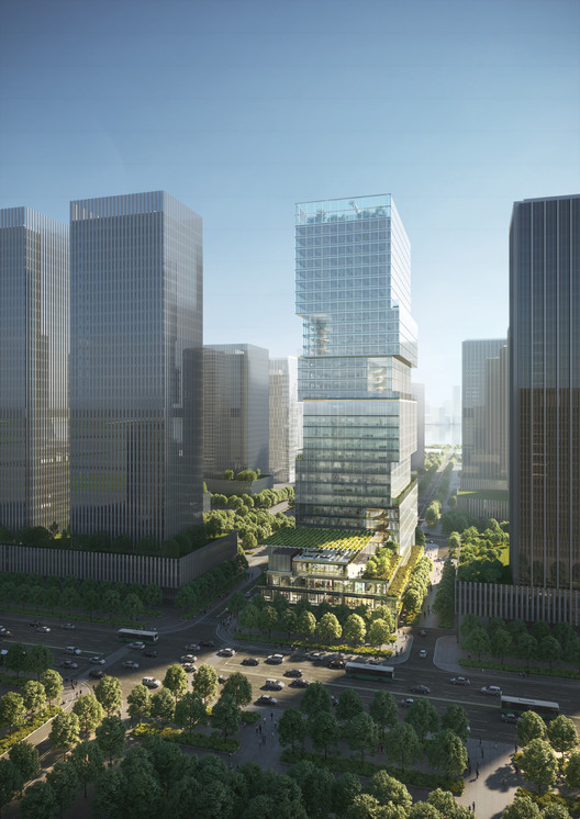 JKP Architects Wins Joint First Prize to Design Office Building in Shenzhen, China , Courtesy of Jaeger Kahlen Partner