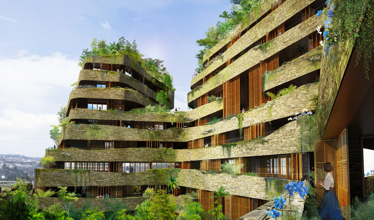 Jean Nouvel Imagines Aquarela, a Residential Development in Ecuador, Courtesy of Architect: Jean Nouvel - Ateliers Jean Nouvel. Associated architect: Alberto MEDEM - Humboldt Arquitectos S.L.