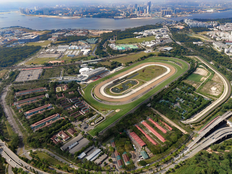Request for Proposals for Consultancy Services for the Master Planning, Design and Implementation of an Integrated Leisure Destination at the Singapore Racecourse, Aerial view of existing Singapore Racecourse