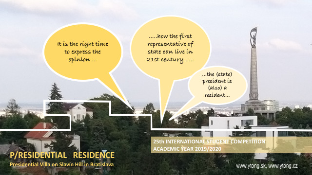 Free Call  :  P/RESIDENTIAL RESIDENCE IN BRATISLAVA -  Student Ideas Competition , P/RESIDENTIAL RESIDENCE. Presidential Villa on Slavín Hill in Bratislava