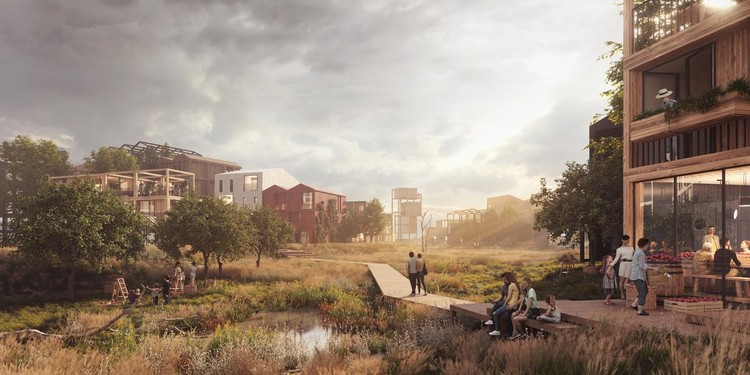 Henning Larsen to Design Copenhagen's First All Timber Neighborhood, Courtesy of Vivid Vision