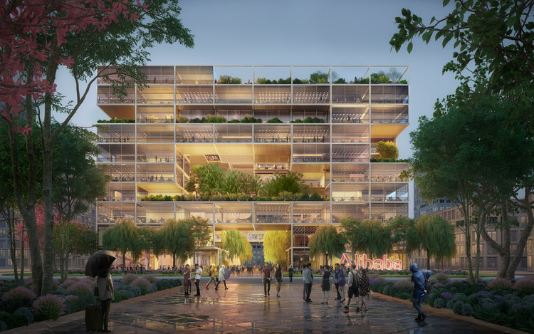 Foster + Partners to Design Alibaba's New HQ in Shanghai, Courtesy of Foster + Partners