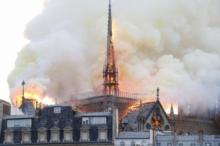 Why the Fire at Notre Dame Elicited Few Tears in Africa, Notre Dame fire. Image © Fabien Barrau/AFP