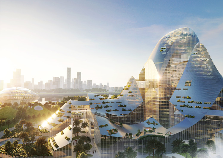 MVRDV Reveals a Smart City Proposal for the Tencent Headquarters Campus in Qianhai Bay , © Atchain