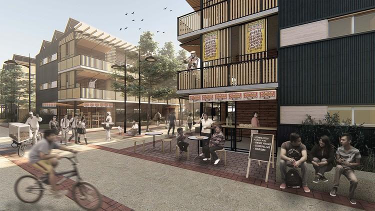 Conoce las viviendas sociales sustentables ganadoras de Construye Solar 2019, Casa Mercado. Image Cortesía de Casa Mercado