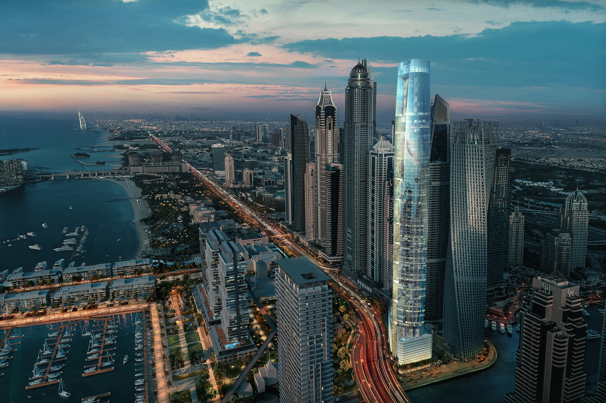 Ciel The World S Tallest Hotel Is Under Construction In Dubai Marina Archdaily