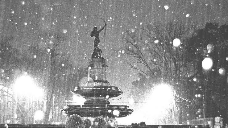 Instantes del DF: la última vez que nevó en la Ciudad de México, Glorieta de la Diana Cazadora. Image vía local.mx