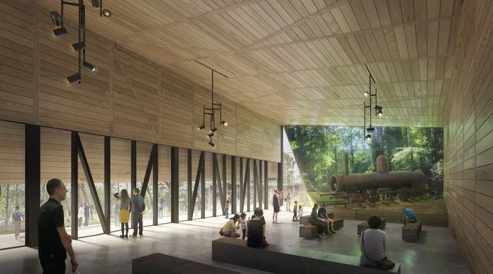 TERROIR Designs Railway Visitor Center for the Dandenong Ranges, Courtesy of Doug and Wolf