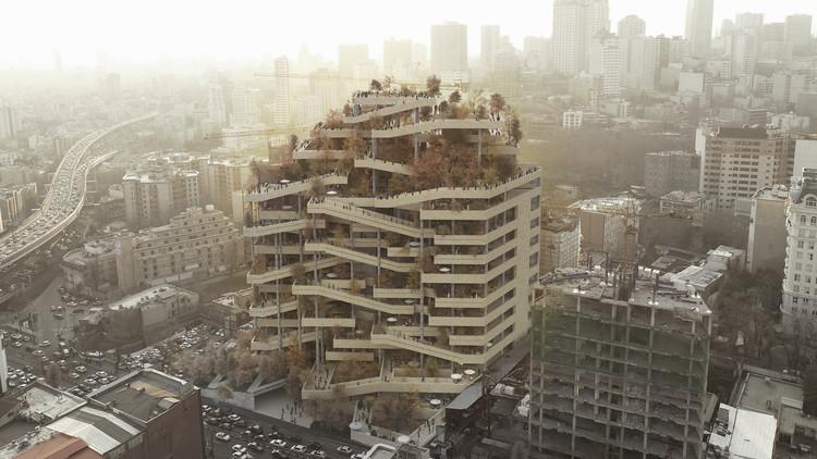 FMZD transforma estrutura de concreto abandonada no Irã em galeria vertical, Cortesia de FMZD | Farshad Mehdizadeh Design