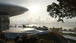 Centro de conferências de Zaha Hadid Architects em Unicorn Island está prestes a ser concluído