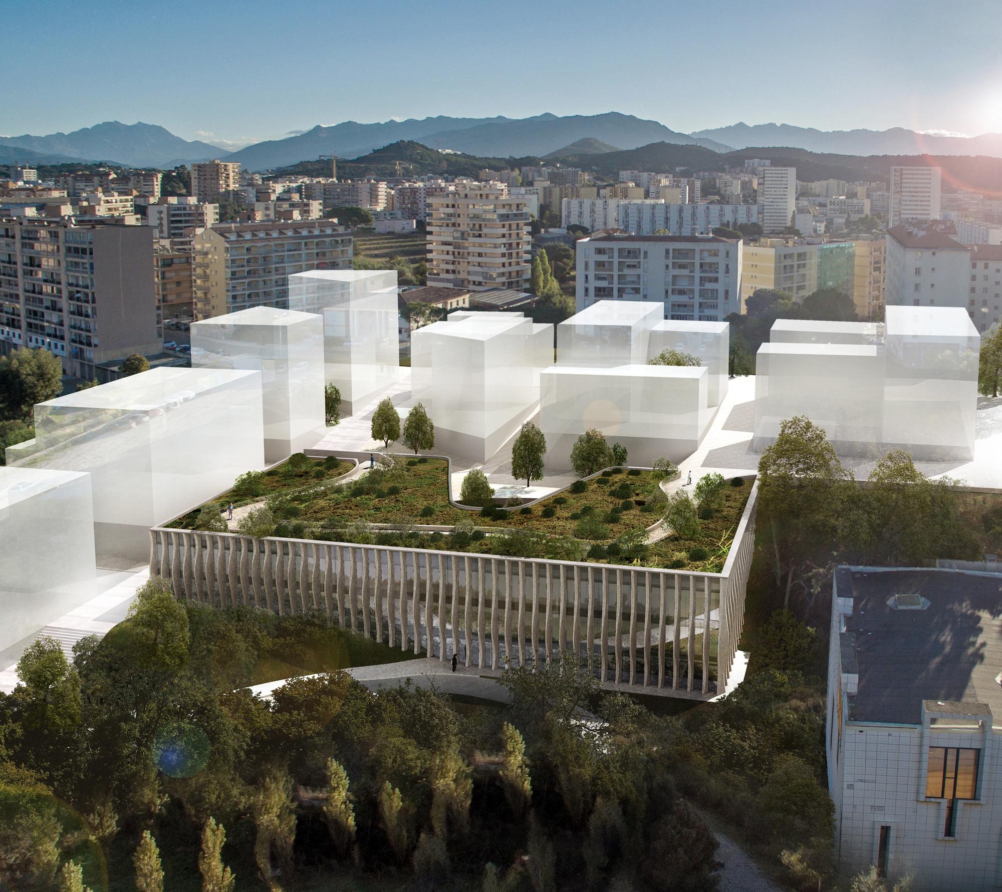 Rudy Ricciotti Amelia Tavella Design The Ajaccio Conservatory Of Music In France Archdaily