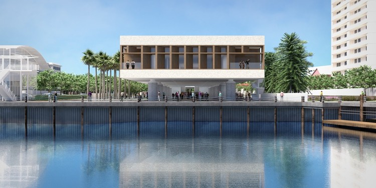 IAAM, the International African American Museum Is Now Under Construction, Views from the eastern end of the main level of IAAM are oriented slightly south across Charleston Harbor toward the Atlantic Ocean and the west coast of Africa.. Image Courtesy of Pei Cobb Freed & Partners