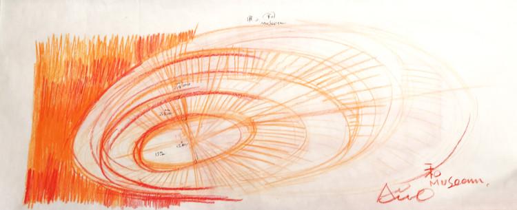 Guión de diseño de Tadao Ando para el Museo de Arte. Imagen cortesía de HEM